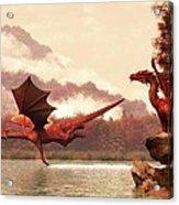 Autumn Dragons Acrylic Print