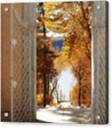 Autumn Entrance Acrylic Print