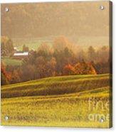 Autumn Fields Acrylic Print