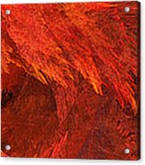Autumn Fire Pano 2 Vertical Acrylic Print