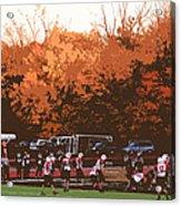 Autumn Football With Cutout Effect Acrylic Print