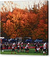 Autumn Football With Sponge Painting Effect Acrylic Print