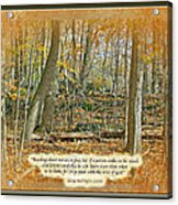 Autumn Forest - George Washington Carver Quote Acrylic Print