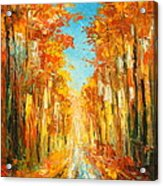 Autumn Forest Impression Acrylic Print
