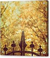 Autumn Gates Acrylic Print