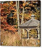 Autumn Gazebo Acrylic Print