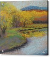 Autumn Glow At Catfish Corner Acrylic Print