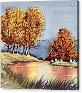 Autumn Golds Acrylic Print