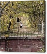 Autumn Hike On The C And O Canal Towpath At Seneca Creek Acrylic Print