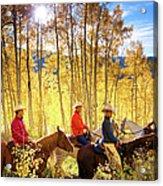 Autumn Horseback Riding Acrylic Print