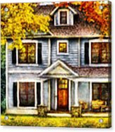 Autumn - House - Cottage  Acrylic Print by Mike Savad