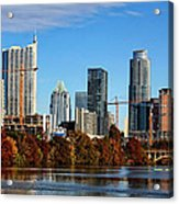 Autumn In Austin Acrylic Print