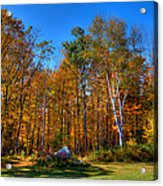 Autumn In North River New York Acrylic Print