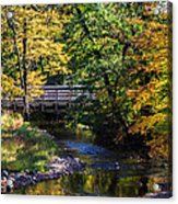Autumn In Stillwater Acrylic Print