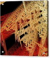 Autumn Lace Acrylic Print by Andee Design