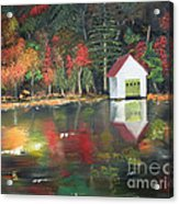 Autumn - Lake - Reflecton Acrylic Print