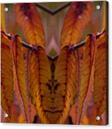 Autumn Leaves 03 Mirror Image Acrylic Print