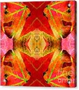 Autumn Leaves Mirrored Acrylic Print