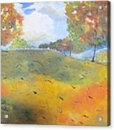 Autumn Leaves Panel 2 Of 2 Acrylic Print