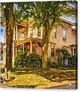 Autumn Mansion 4 - Paint Acrylic Print