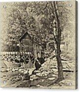 Autumn Mill 2 Antique Acrylic Print