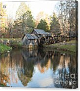Autumn Morning At Mabry Mill Acrylic Print