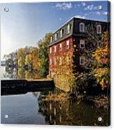 Autumn Morning At The Kingston Mill Acrylic Print
