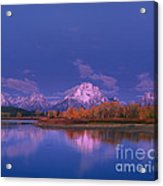 Autumn Morning Grand Tetons National Park Wyoming Acrylic Print