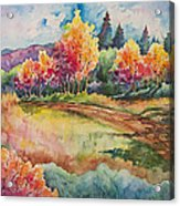 Autumn Near Taos Acrylic Print