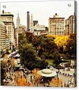 Autumn - New York Acrylic Print by Vivienne Gucwa