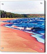 Autumn On Lake Superior Acrylic Print