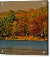 Autumn On Mt Noris Lake Acrylic Print by Victoria Sheldon