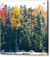 Autumn On The Fulton Chain Of Lakes In The Adirondacks II Acrylic Print