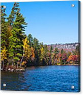 Autumn On The Fulton Chain Of Lakes In The Adirondacks IIi Acrylic Print
