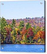 Autumn On The Fulton Chain Of Lakes In The Adirondacks Iv Acrylic Print