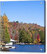 Autumn On The Fulton Chain Of Lakes In The Adirondacks V Acrylic Print