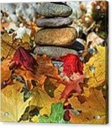 Autumn On The Rocks 2 Acrylic Print