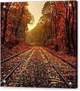 Autumn On The Tracks Acrylic Print