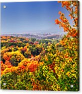 Autumn Over The Rolling Hills Acrylic Print
