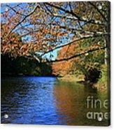 Autumn Paddle On The Quinnebaug  Acrylic Print