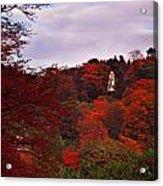 Autumn Pagoda Acrylic Print