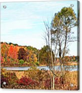 Mendon Ponds In Autumn Acrylic Print