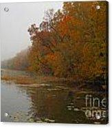 Long Lake In Autumn Acrylic Print