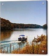 Autumn Pontoon Boating Argyle Lake Acrylic Print