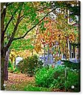 Autumn Porch Acrylic Print