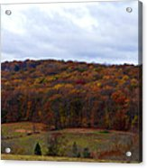 Autumn Postcard From Valley Forge Acrylic Print