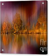 Autumn Reflection Digital Photo Art Acrylic Print