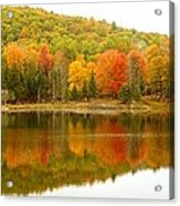 Autumn Reflection Panoramic View Acrylic Print