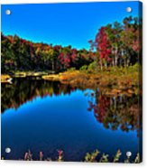 Autumn Reflections In The Adirondacks Acrylic Print