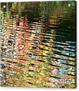 Autumn River Water Reflections  Acrylic Print